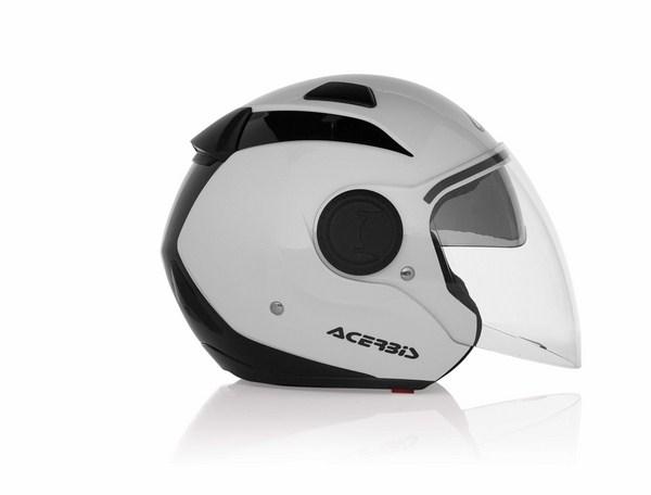 Modular helmet with sun visor Acerbis Sunrise White Ner