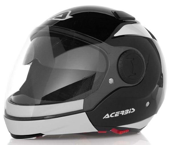 Modular helmet with sun visor Acerbis Black Sunrise Bianc