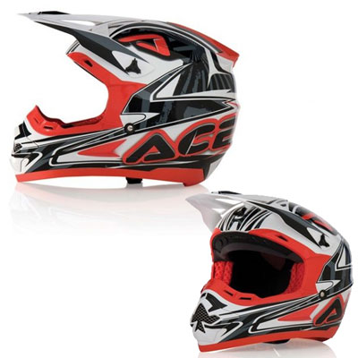 Acerbis Motocross Helmet Basic Red