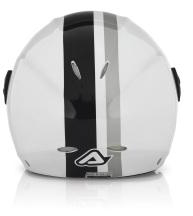 Acerbis X-JET Stripes jet helmet white black