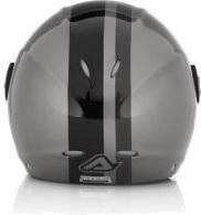 Acerbis X-JET Stripes jet helmet grey-black