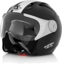 Casco moto jet Acerbis X-JET Stripes nero-bianco