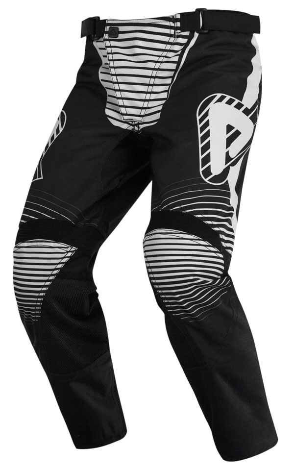 Pantaloni cross bambino Acerbis Impact Nero Bianco