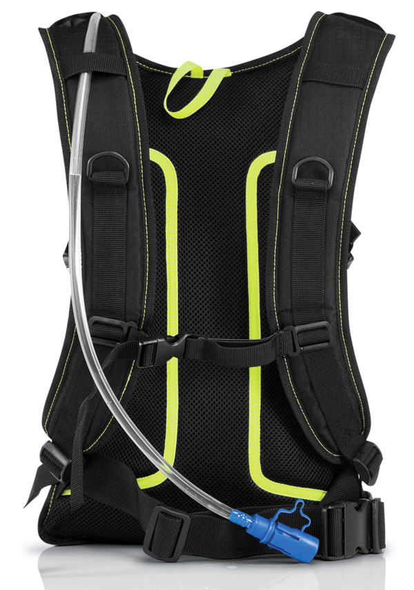 Zaino Acerbis H2O Drink BackPack Nero Giallo