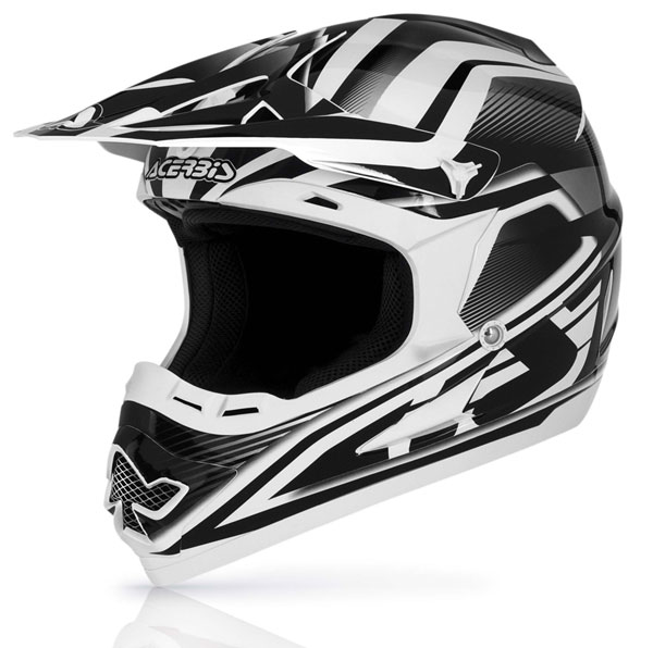 Cross Acerbis Profile Helmet Black White 14