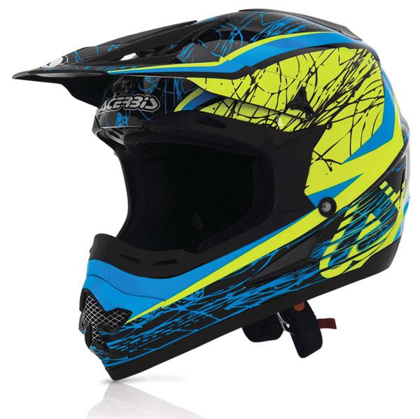 Acerbis Profile Helmet cross Gipsy Blue Yellow