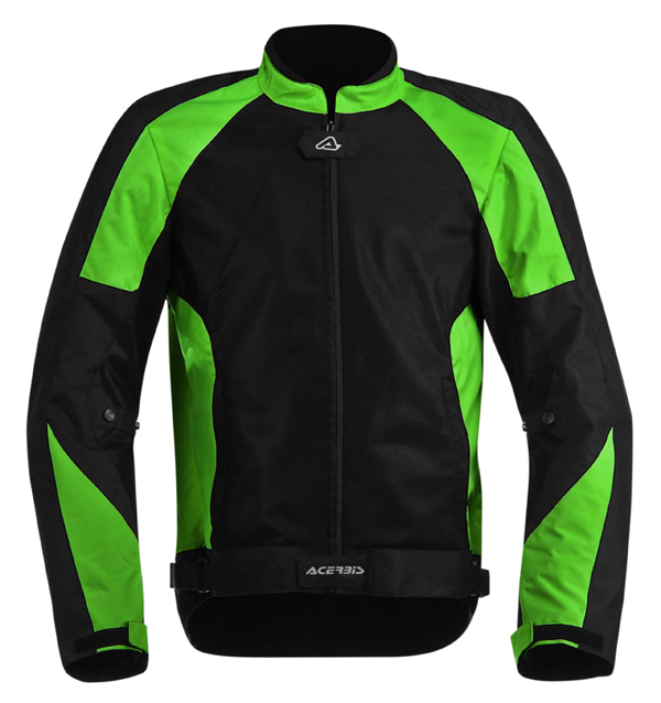 Acerbis Vented Motorcycle Jacket Ramsey My Black Green