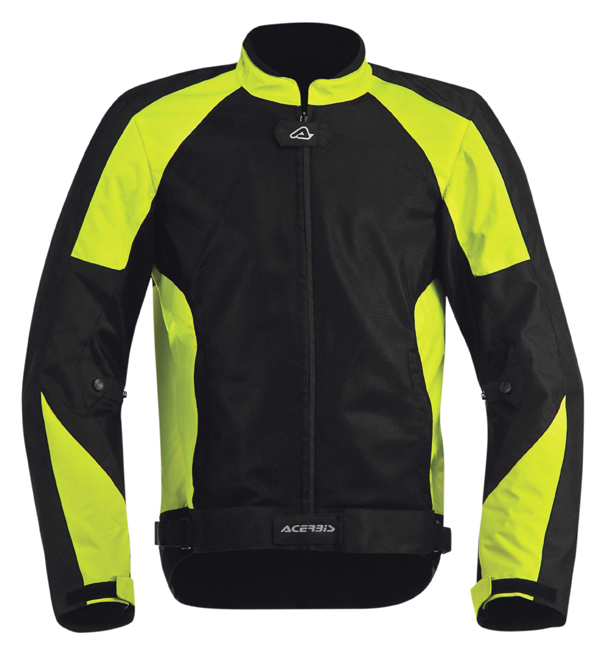 Acerbis Vented Motorcycle Jacket Ramsey My Black Yellow