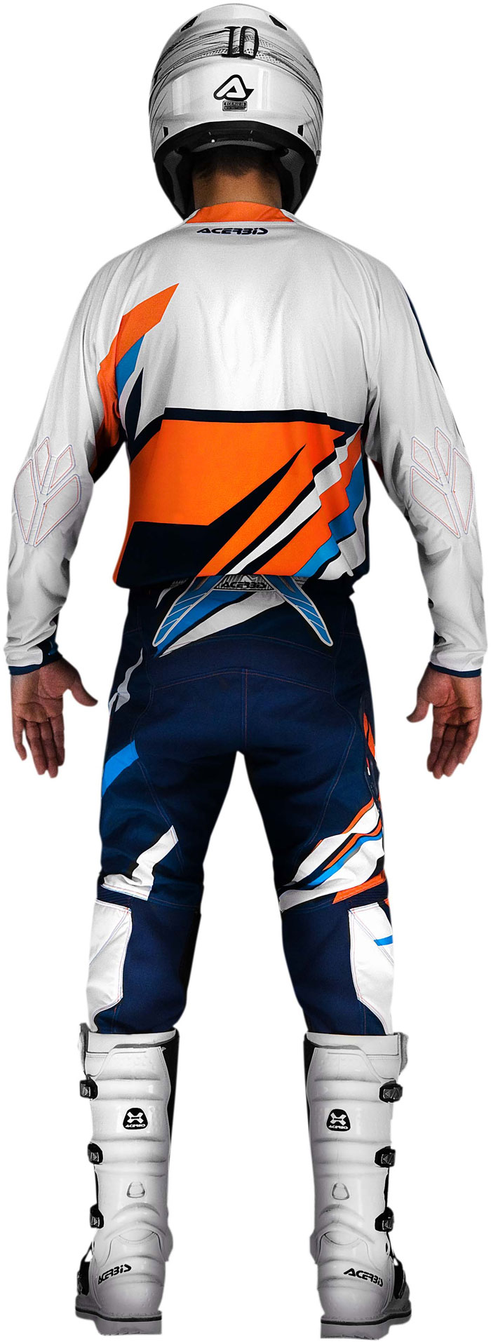 Pantaloni cross Acerbis X-Gear Arancio Blu