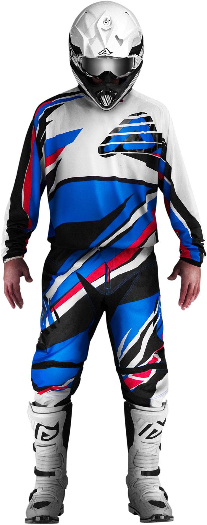 Pantaloni cross Acerbis X-Gear Blu Rosso