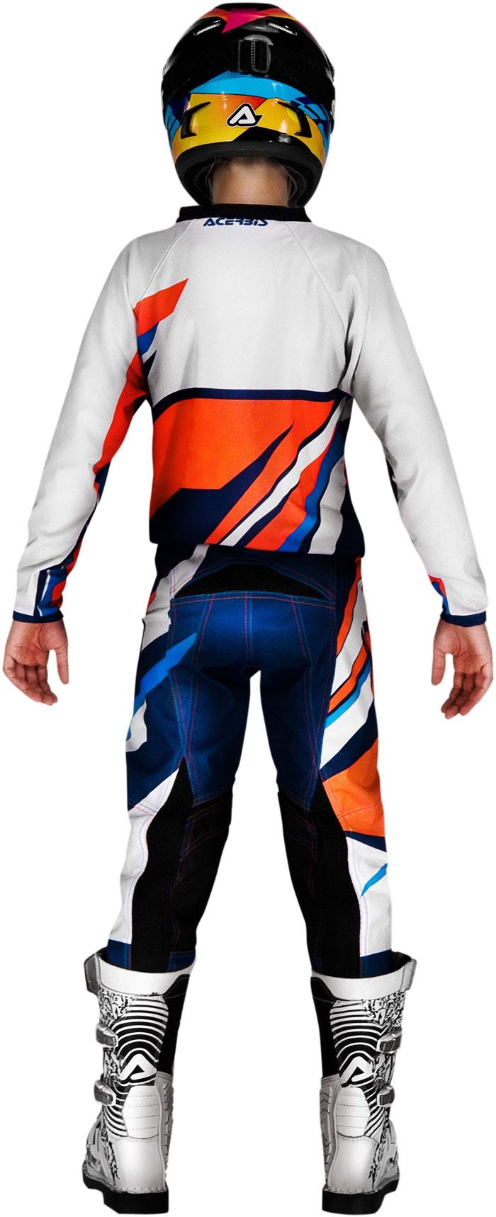 Pants cross baby Acerbis Junior Orange Blue