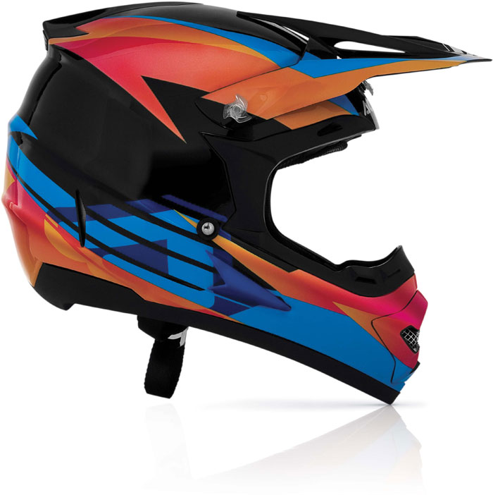 Casco cross Acerbis Profile Timebomb Black Red