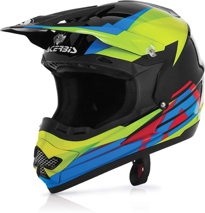 Casco cross Acerbis Profile Timebomb Nero Verde