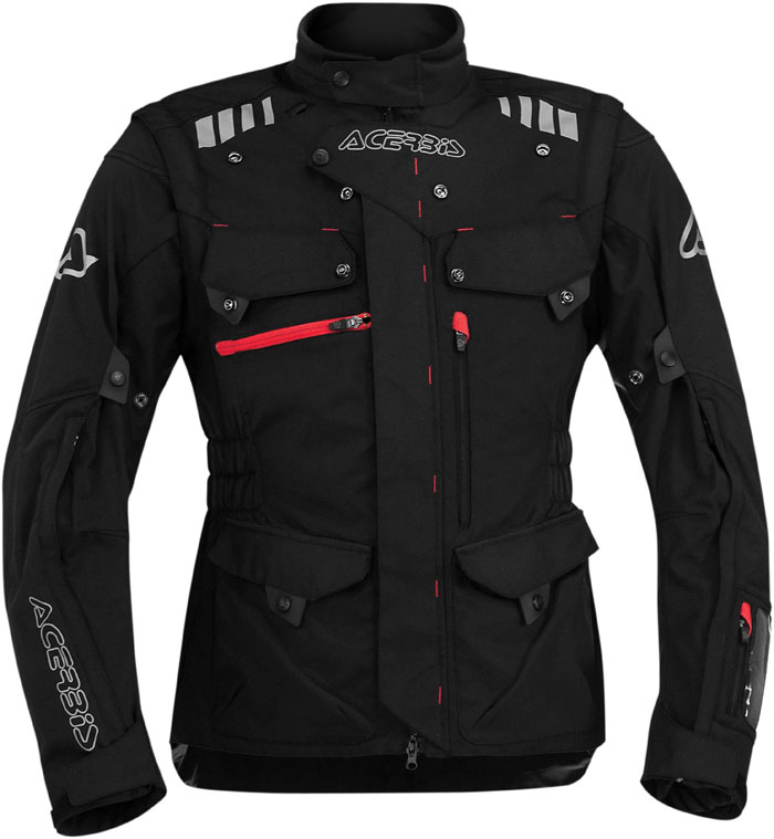 Acerbis Adventure motorcycle jacket with detachable sleeves Blac