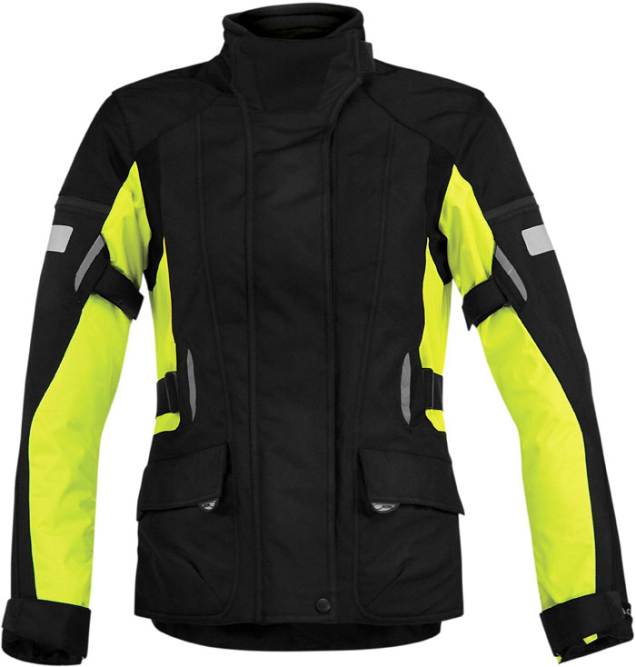 Motorcycle jacket woman Acerbis Lady Triskele Black Yellow