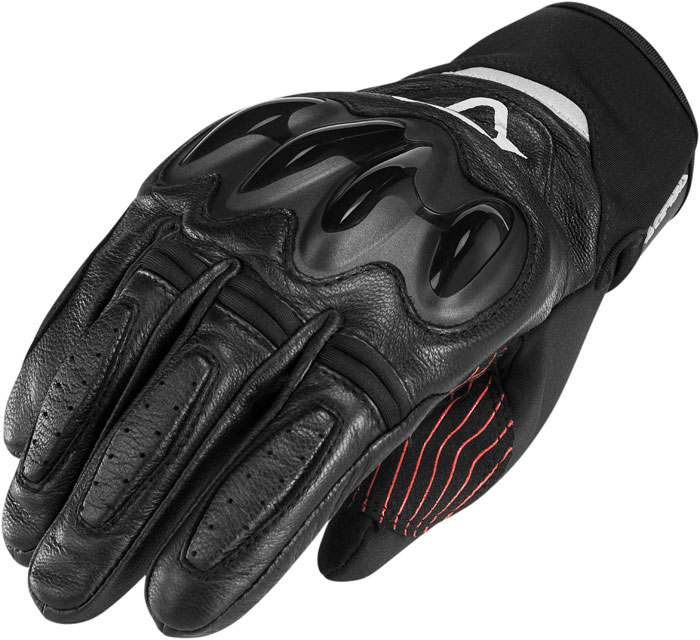 Black Leather Gloves Acerbis Arbory