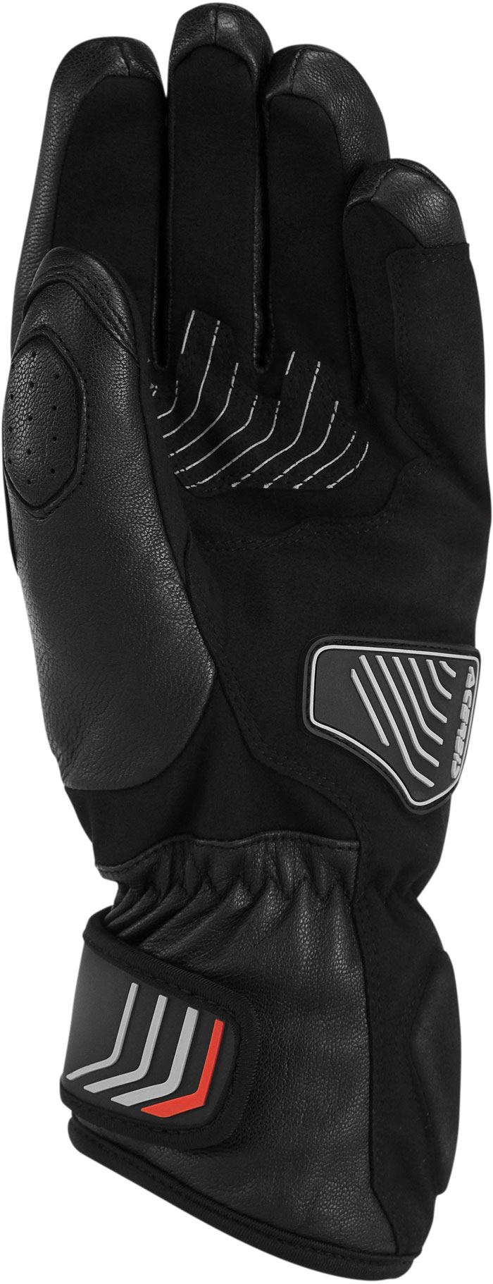 Black Leather Gloves Acerbis Caley