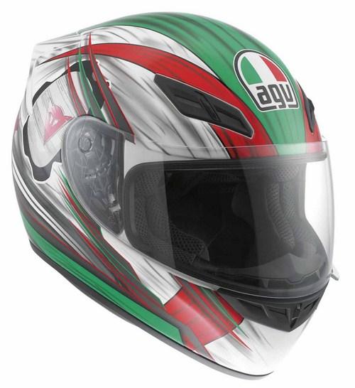 Casco moto Agv K-4 Evo Multi Hang-On Bianco-rosso-verde