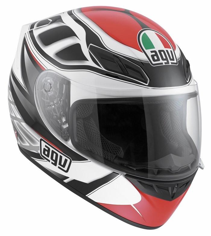 Agv Street Road K-4 Evo Multi Diapason helmet white black red