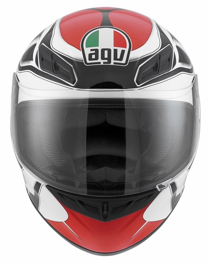 Casco moto Agv K-4 Evo Multi Diapason bianco-nero-rosso