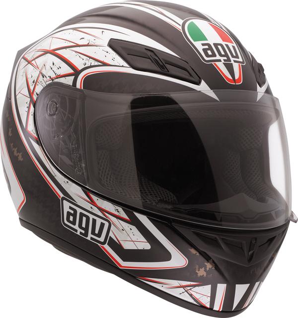 Casco moto Agv K-4 Evo Multi Sliver nero-rosso