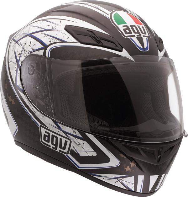Agv K-4 Evo Multi Sliver full-face helmet black-blue