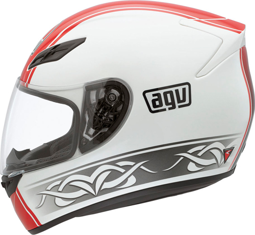 Agv K-4 Evo Multi Roadster full-face helmet white-red