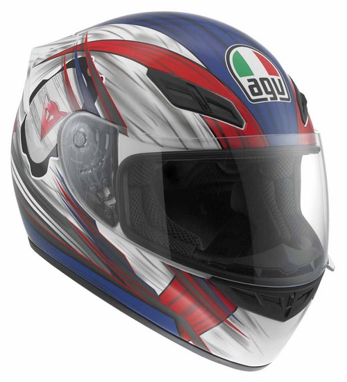 Agv K-4 Evo Multi Hang-On full-face helmet white-red-blue