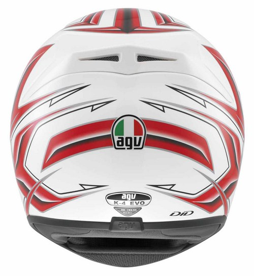 Agv K-4 Evo Multi Arrow full-face helmet white-red
