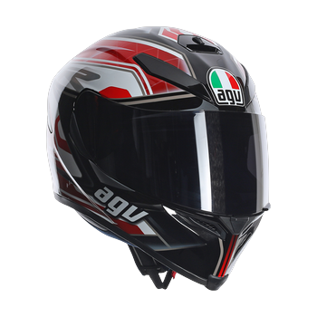 AGV K5 Dimension full face helmet Black White RED