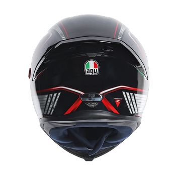 AGV K5 The Cube full face helmet Black Silver RED