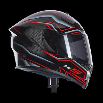 AGV K5 Deep full face helmet Black White RED