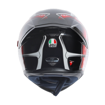 AGV K5 Hurricane full face helmet Black Red White