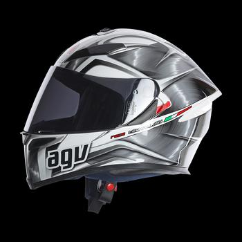 AGV K5 Hurricane full face helmet White Gunmetal Black