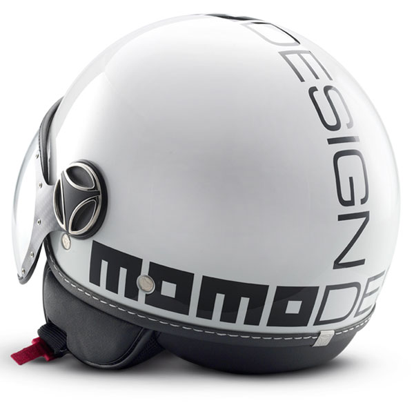 Momo Design Fighter Jet Helmet Classic White Gloss Black