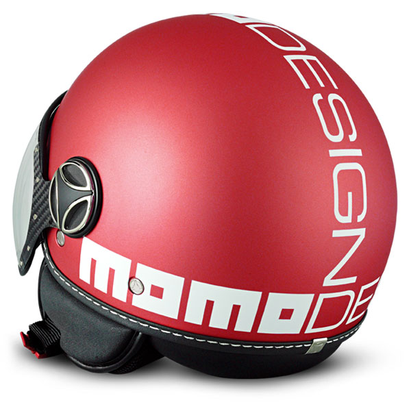 Momo Design Fighter Classic jet helmet Frost Red White