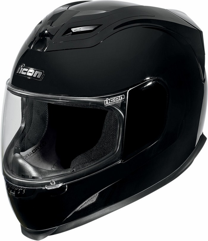 Casco integrale Icon Airframe Gloss Nero