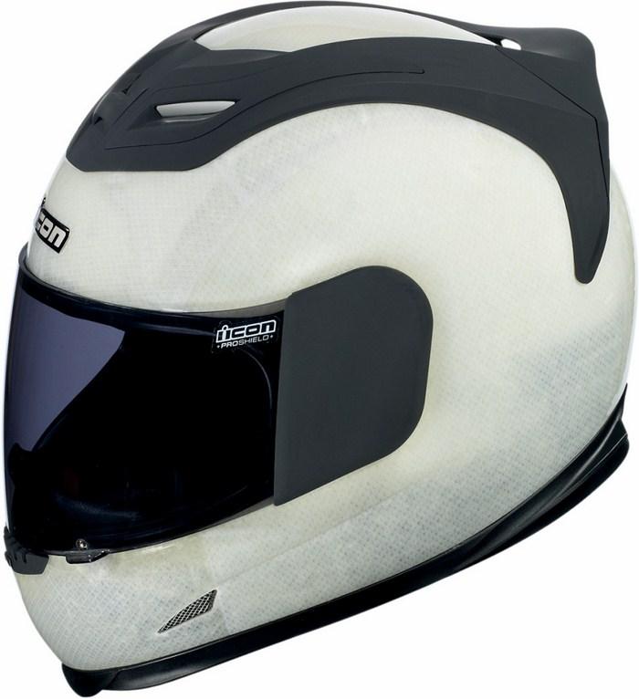 Full Face Helmet Icon Airframe Construct White Black