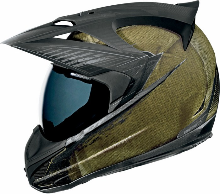 Casco integrale Icon Variant Battlescar Verde