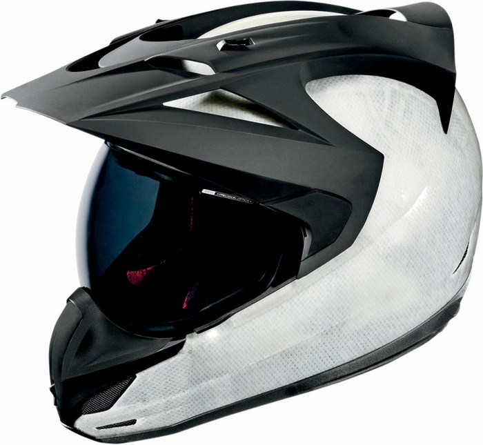 Full Face Helmet Icon Variant Construct White Black