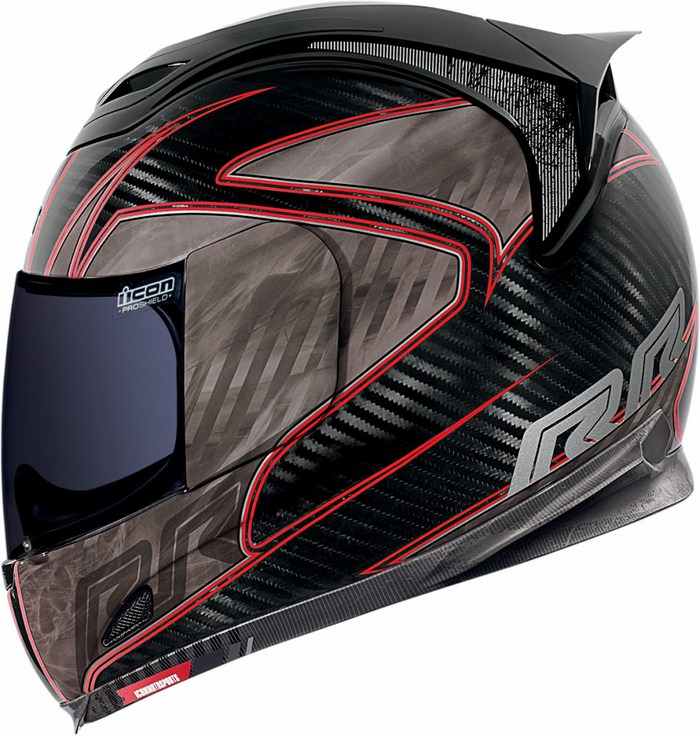 Icon Airframe Full Face Helmet Red Carbon RR