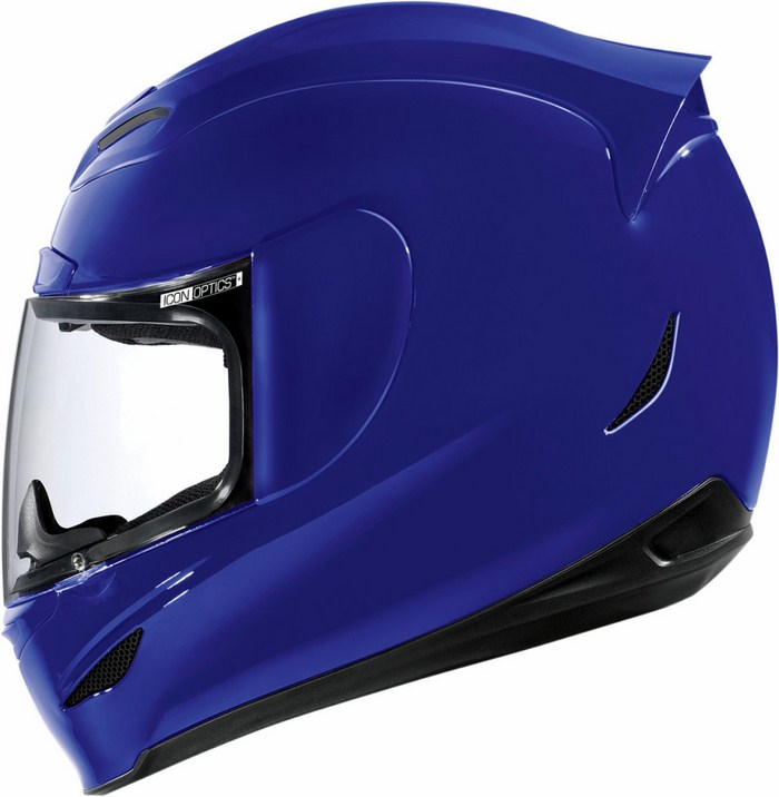 Full Face Helmet Gloss Blue Icon Airmada