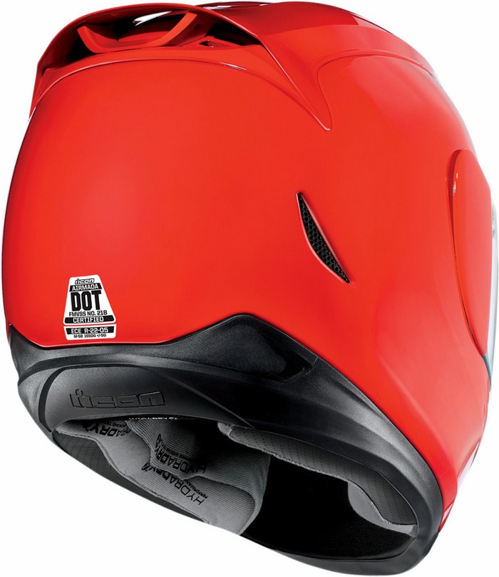 Full Face Helmet Gloss Red Icon Airmada
