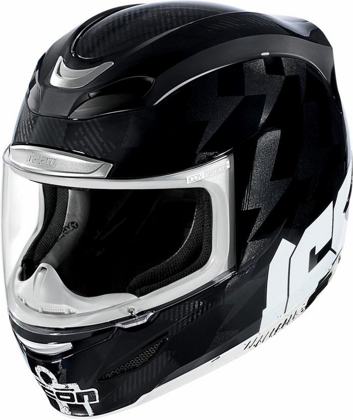Icon Stack Full Face Helmet Black Airmada