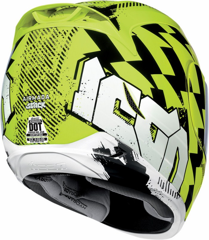 Casco integrale Icon Airmada Stack Giallo