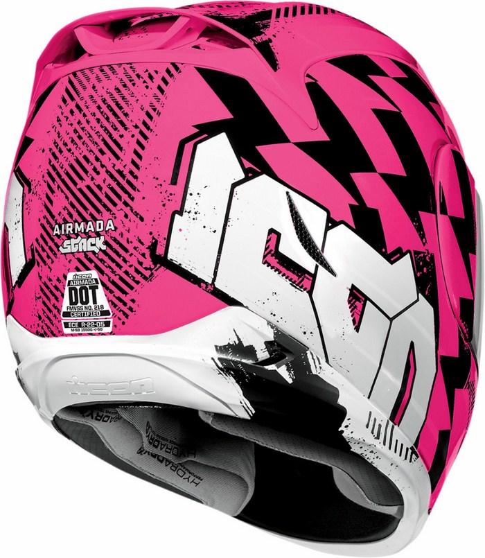 Full Face Helmet Icon Airmada Stack Rosa