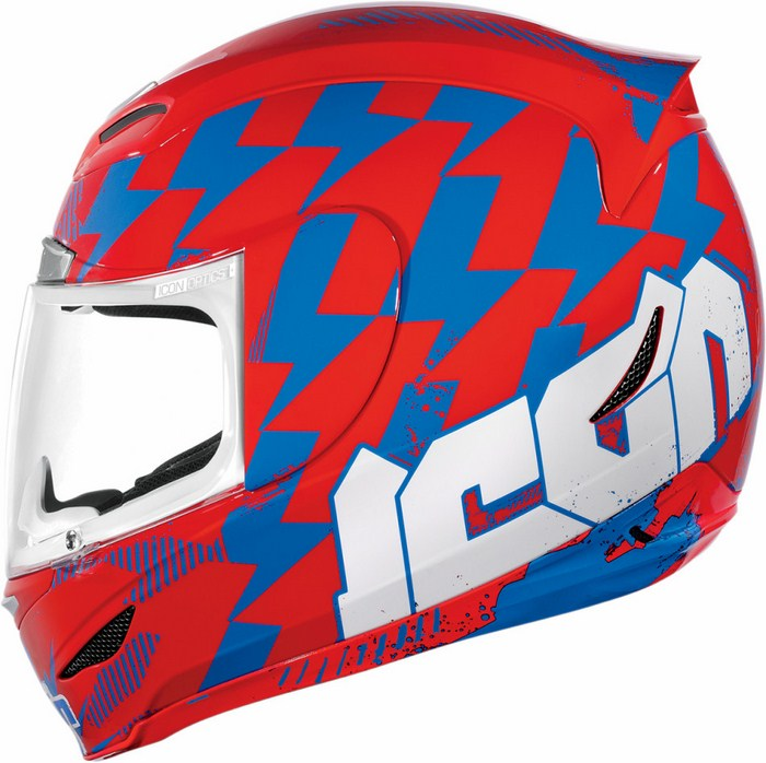 Full Face Helmet Red Blue Stack Icon Airmada