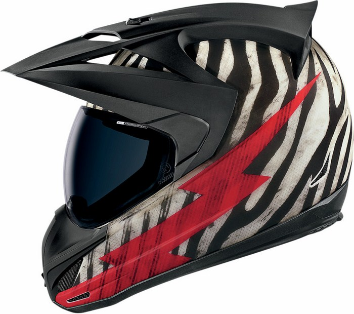 Icon Variant Helmet Full Big Game Zebra