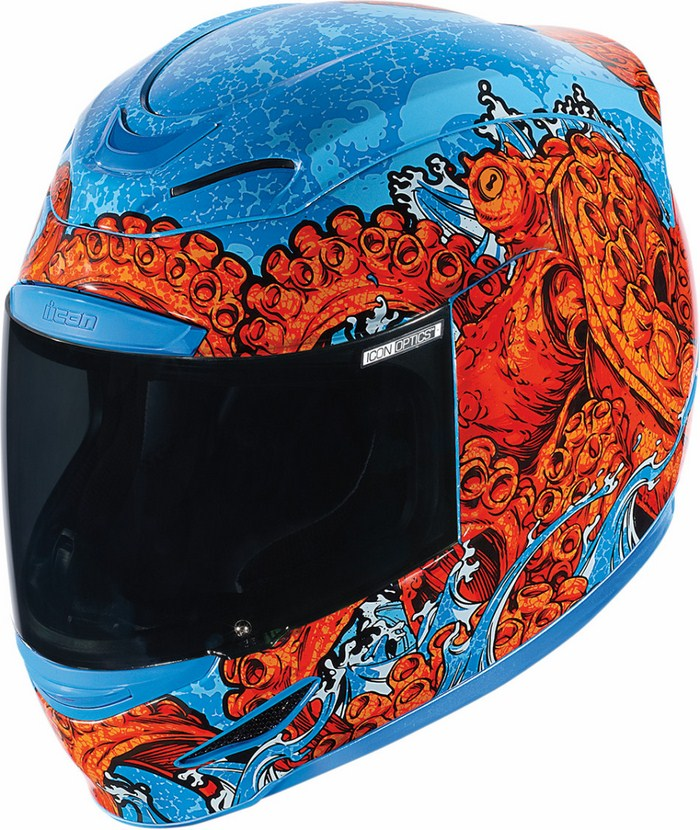 Full Face Helmet Icon Airmada Colossal Red Blue