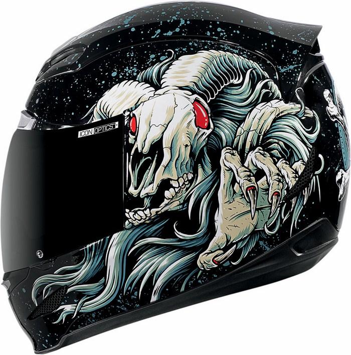 Full Face Helmet Icon Airmada Hoodoo Black